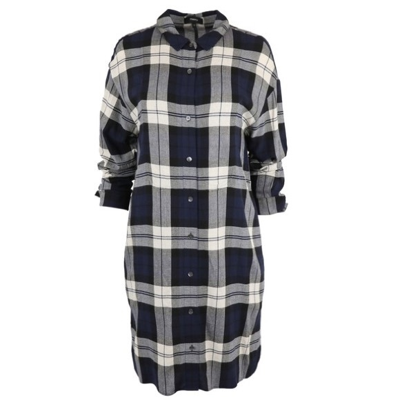 Theory Dresses & Skirts - Theory Plaid Shirtdress in Navy Multi